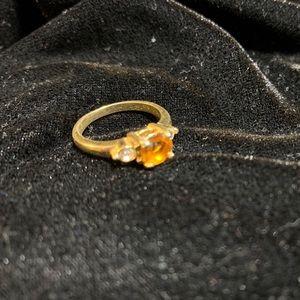 Vintage costume jewelry goldtone ring